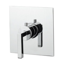"""Rubi Jawa Built-in Rough 3/4"""" Thermostatic Mixer and Square Trim with Handle Chrome"""
