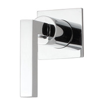 """Rubi Jawa 3/4"""" Male Linear Stop Valve and Square Trim with Handle Chrome"""