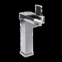 Rubi Kali Raised Single Lever Washbasin Faucet No Drain Brushed Nickel