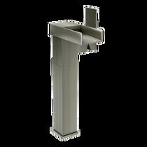 Rubi Kali Raised Tall Single Lever Washbasin Faucet No Drain Brushed Nickel
