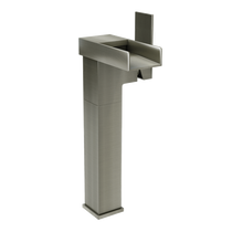 Rubi Kali Raised Tall Single Lever Washbasin Faucet with Drain Brushed Nickel