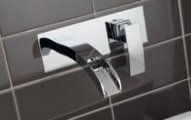 Rubi Kaskad Wall Mounted Washbasin Faucet Chrome