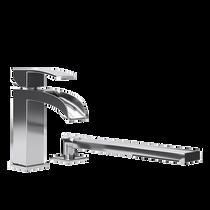 Rubi Kaskad Two-Piece Bathtub Faucet Chrome