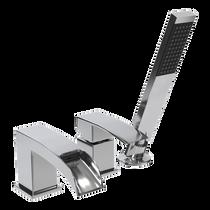 Rubi Kaskad Three-Piece Bathtub Faucet Chrome