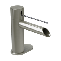 Rubi Kronos Single Lever Washbasin Faucet with Drain Brushed Nickel