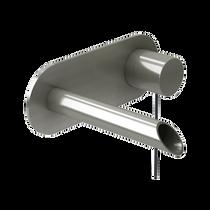 Rubi Kronos Wall Mounted Washbasin Faucet Brushed Nickel