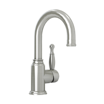 Rubi Qabil Single Lever Washbasin Faucet with Drain Brushed Nickel
