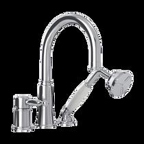 Rubi Qabil Three-Piece Bathtub Faucet Chrome