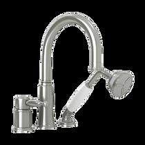 Rubi Qabil Three-Piece Bathtub Faucet Brushed Nickel