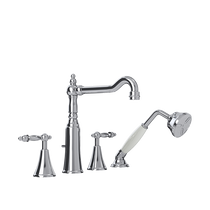 Rubi Saida Four-Piece Bathtub Faucet Chrome