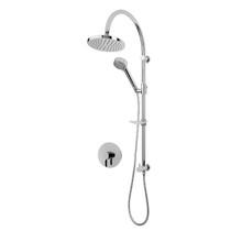 Rubi Vertigo C Pressure Balanced Shower Kit with Shower Column with Sliding Shower Bar, Hand Shower and Round Shower Head Chrome