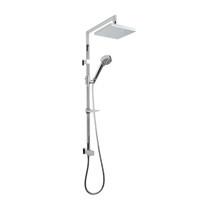 Rubi Shower Column with Round Sliding Shower Bar, Square Shower Head, and Hand Shower Chrome
