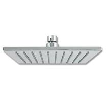 Rubi Luvia Square Slim Square, Solid Brass Rain Head for Shower Brushed Nickel - RLUC08-1NN