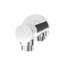 Rubi Round Wall Mounted Elbow Connector Chrome