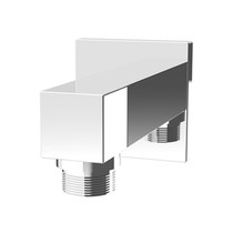 Rubi Square Wall Mounted Elbow Connector Chrome