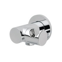 Rubi Round Wall Mounted Elbow Connector with Water Outlet Chrome
