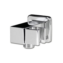 Rubi Square Wall Mounted Elbow Connector with Water Outlet Chrome