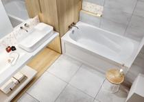 Mirolin TA6634R Tucson II Skirted Bath Right-Hand Drain White