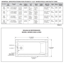 "American Standard Studio Drop-in 60"" x 32"" Bathtub"