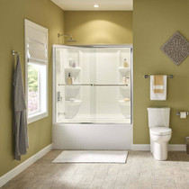"American Standard Studio 60"" x 32"" Bathtub Left Hand - Above Floor Rough-in with Built-in Apron"