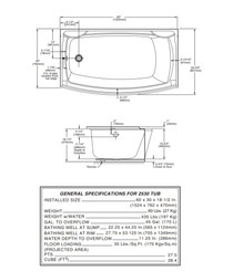 """American Standard Boulevard Curved Tub with Integral Apron 60"""" x 30"""" Right Hand"""