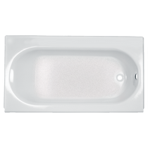 "American Standard Princeton 60"" x 34"" Integral Apron Bathtub with Drain and Luxury Ledge, AFR Right Hand"