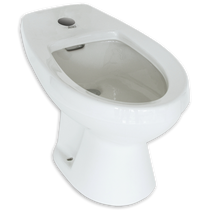 American Standard Cadet Single Hole Bidet for Deck-Mounted Fittings Bone