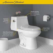 American Standard Colony Right Height Elongated One-Piece Toilet with Seat White