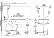 American Standard Cadet PRO Right Height Elongated Toilet 10 Inch Rough-In 1.6gpf White