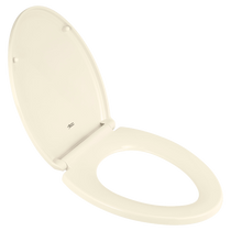 American Standard Traditional Elongated Luxury Toilet Seat Linen