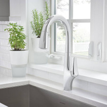 American Standard Avery Selectronic Hands-Free Pull-Down Kitchen Faucet Polished Chrome