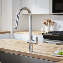 American Standard Beale MeasureFill Touch Kitchen Faucet Polished Chrome