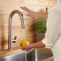 American Standard Beale Pull-Down Kitchen Faucet with Selectronic Hands-Free Technology Stainless Steel