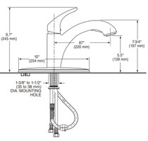 American Standard Colony PRO Single-Handle Kitchen Faucet with Pull-Out Spray Polished Chrome