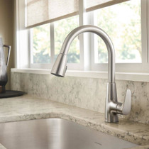 American Standard Colony Pro Single-Handle Kitchen Faucet with Pull-Down Spray Polished Chrome