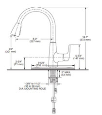 American Standard Colony Pro Single-Handle Kitchen Faucet with Pull-Down Spray Stainless Steel