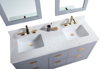 "Seville 60"" Double Sink Bathroom Vanity Grey"