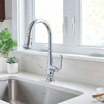 American Standard Delancey Single-Handle Pull-Down Kitchen Faucet Polished Chrome