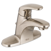 American Standard Colony Pro Single-Handle Bathroom Faucet without drain  pop-up hole  and rod - 1.2 GPM Brushed Nickel