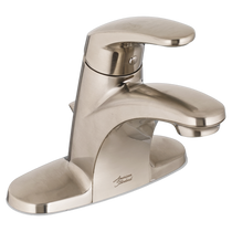 American Standard Colony PRO Single-Handle Bathroom Faucet with Metal Drain Brushed Nickel