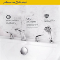American Standard Colony PRO Roman Tub Faucet with Personal Shower for Flash Rough-In Valves Polished Chrome