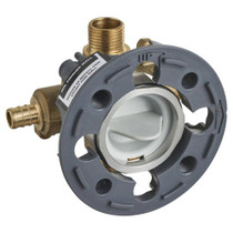 American Standard Flash Shower Rough-In Valve with PEX Inlets and Universal Outlets for Crimp Ring System