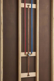 American Standard Flash Shower Rough-in Valve with PEX Cold Expansion Elbow Connections