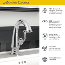 American Standard Delancey Bathroom Faucet with Side Handle Polished Chrome