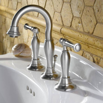 American Standard Quentin 2-Handle 8 Inch Widespread High-Arc Bathroom Faucet Brushed Nickel