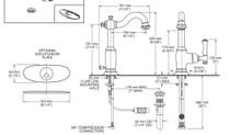 American Standard Quentin 1-Handle Monoblock Bathroom Faucet Brushed Nickel