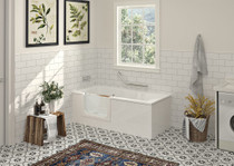 "Zitta Corner Duett Bathtub 63"" x 29 1/2"" x 21 5/8"" Right Hand"