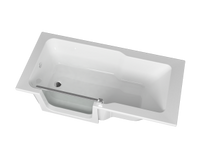 "Zitta On Wall Duett Bathtub 63"" x 29 1/2"" x 21 5/8"" Left Hand Acrylic Skirt"