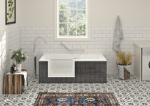"Zitta On Wall Duett Bathtub 63"" x 29 1/2"" x 21 5/8"" Right Hand Acrylic Skirt"