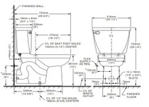 American Standard Yorkville 1.1 gpf FloWise Elongated Pressure Assisted Toilet